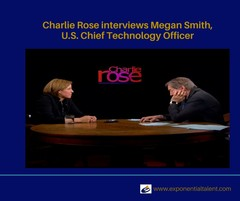 Picture of Megan Smith and Charlie Rose