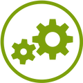 Implementation gears icon